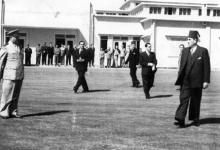 دمشق 1948- شكري القوتلي في مطار المزة قبيل استقبال الأمير عبد الإله