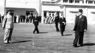 Shukri Quatli at the Damascus Mezze Airport in 1948