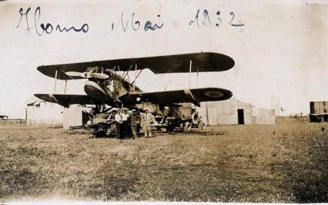 حمص 1932 : طائرة نقل عسكرية فرنسية على أرض مطار حمص القديم