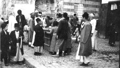 دمشق 1912- سبيل ماء مسجد درويش باشا (الدرويشية)..