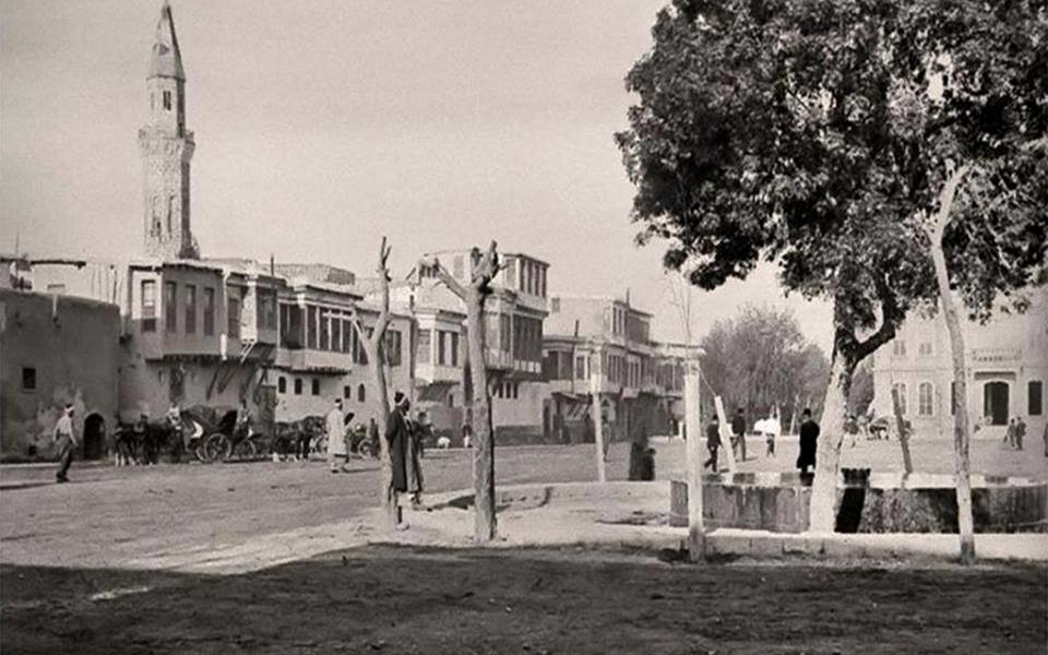 دمشق 1899- ساحة المرجة ومبنى البلدية