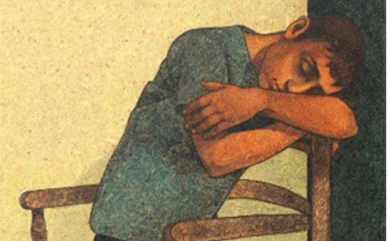 قيلولة 2 .. لوحة للفنان لؤي كيالي