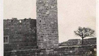 درعا - مئذنة مسجد ازرع في الثلاثينيات