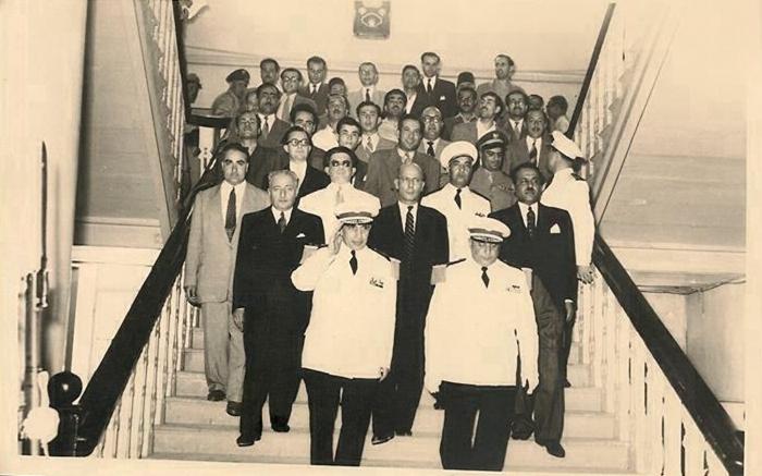 دمشق 1953- أديب الشيشكلي يتسلم رئاسة الجمهورية من فوزي سلو