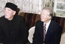صورة الرئيس كارتر في مرج السلطان بالغوطة الشرقية
