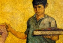صورة بائع الجوارب 2 لوحة للفنان لؤي كيالي