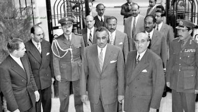 دمشق 1958: جمال عبد الناصر وشكري القوتلي أمام القصر الجمهوري