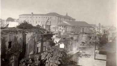 دمشق 1928- الحطام الناجم عن حريق السنجقدار