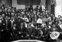 Family photo taken at the Bar Mitzvah of Fauzi Abu-Rish Mizrahi , Damascus, Syria,1930's