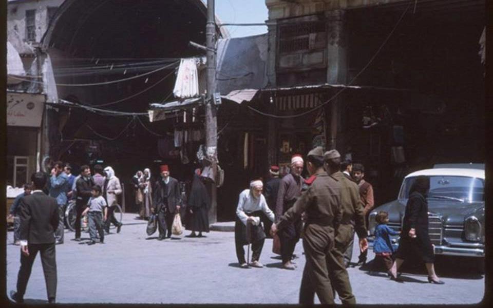 دمشق 1965- المدخل الرابع لسوق الخجا والمعروف باسم الباب الشمالي