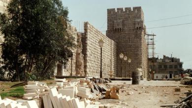 دمشق 1988- قلعة دمشق أثناء عمليات الترميم