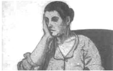 امرأة.. لوحة للفنان لؤي كيالي