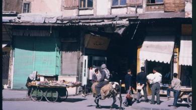 دمشق 1965 - المدخل الثاني لسوق الخجا والمطل على جادة السنجقدار