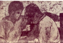 صورة الفتيان .. لوحة للفنان لؤي كيالي