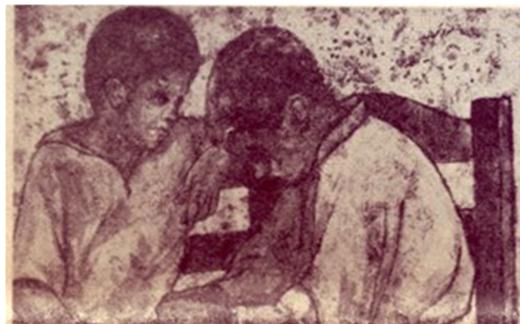 الفتيان .. لوحة للفنان لؤي كيالي
