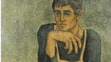 عامل المقهى .. لوحة للفنانلؤي كيالي