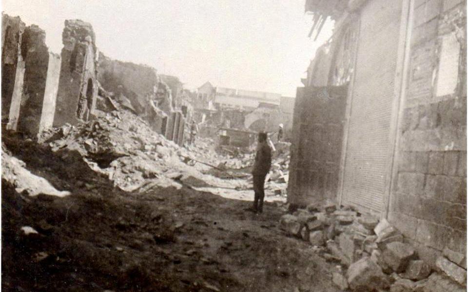 دمشق 1928- آثار حريق السنجقدار
