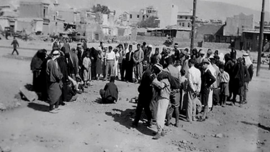 دمشق 1928- آثار حريق السنجقدار عام 1928