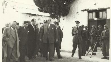 صورة شكري القوتلي وبعض الوزراء في حكومة سعيد الغزي الثانية