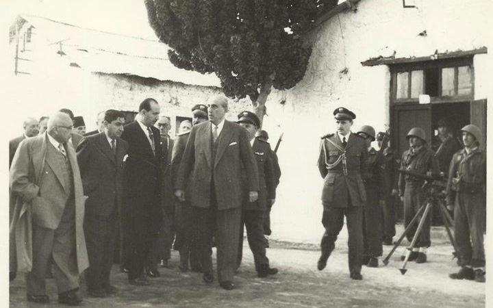 شكري القوتلي قبل يومين من تنازله عن الرئاسة 1958