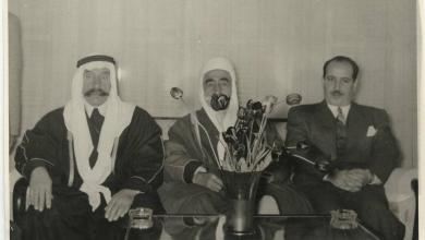 علي بوظو وزير الداخلية السوري مع الزعيم سلطان باشا الاطرش 1954