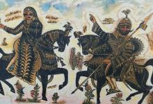 صورة لوحة عنتر وعبلة للفنان ناجي العبيد