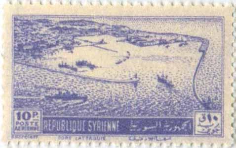 طوابع سورية - مجموعة طوابع قلعة الحصن 1953