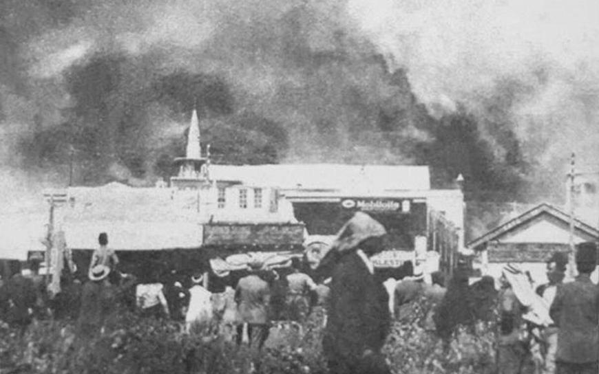 دمشق 1928 - أسباب حريق جادة السنجقدار