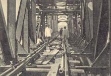 جسر حديدي مسار الخط الحديدي حمص - طرابلس