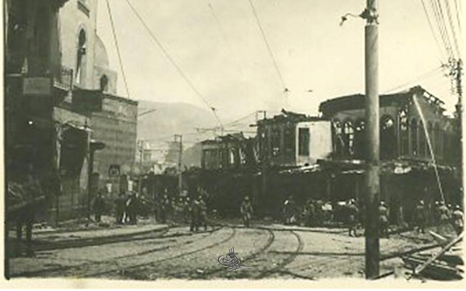دمشق 1928 –  جادة الناصري وحريق محلة السنجقدار (6)