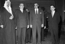 صورة اجتماع القادة العرب في بيروت عام 1956 (1)