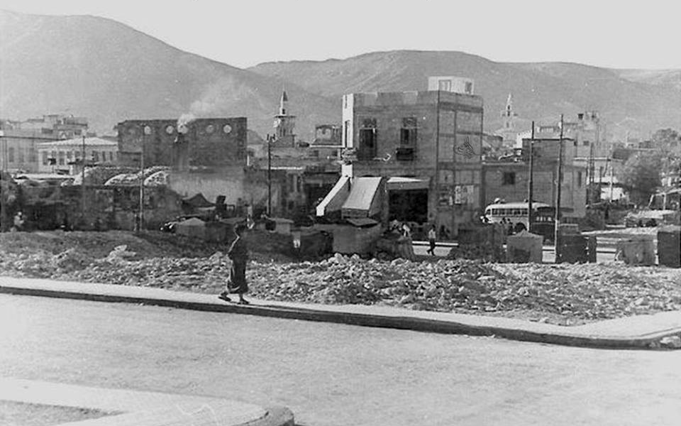 دمشق 1928 -  جادة الناصري وحريق محلة السنجقدار (4)