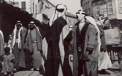 حمص 1940 - مدخل شارع الحميدية ومئذنة جامع الدالاتي