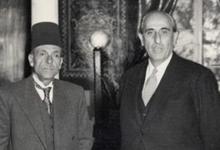 دمشق 1957- الصحفي محمد علي الطاهر والرئيس شكري القوتلي