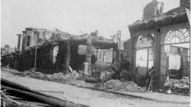 دمشق 1928 – شارع الملك فيصل بعد حريق السنجقدار