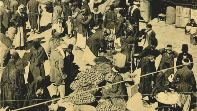 اللاذقية 1927 - التسوق في بازار اللاذقية