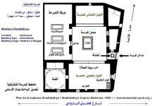 صورة مخطط رقم (5) المدرسة الشاذبكلية في دمشق