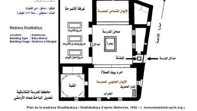 مخطط رقم (5) المدرسة الشاذبكلية في دمشق