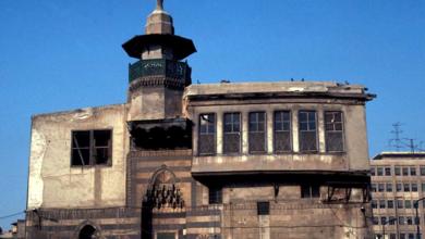صورة دمشق –  مبنى المدرسة الشاذبكلية الهجين