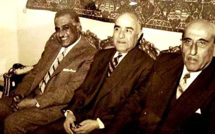 رشدي الكيخيا رئيس حزب الشعب بين الرئيسين شكري القوتلي وجمال عبد الناصر