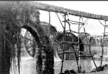 حماة - الأربع نواعير (البشريتان والعثمانيتان) في الثلاثينيات من القرن الماضي