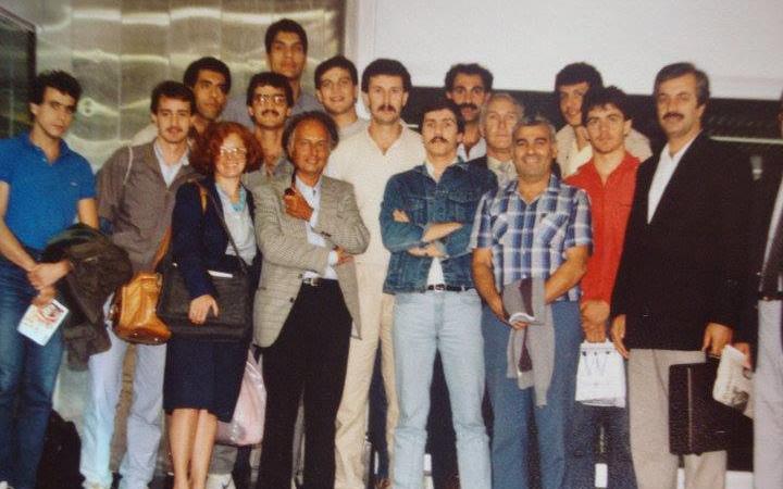 منتخب سورية لكرة السلة عام 1986 عند وصوله إلى بودابيست