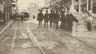 دمشق 1925 - شارع ناظم باشا في المهاجرين