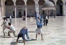 صورة دمشق 1985 – صحن المسجد الأموي في دمشق