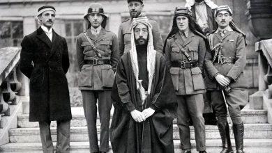 فيصل بن الحسين  ولورنس في باريس