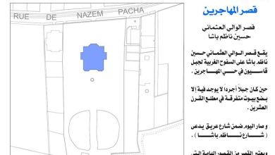 صورة قصر المهاجرين – قصر حسين ناظم باشا – المخطط والمساحة (2)