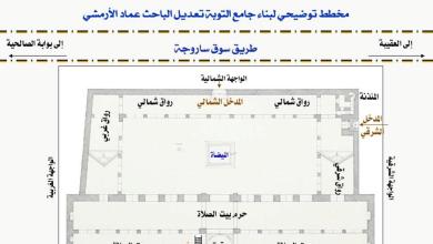 مخطط توضيحي لبناء مسجد التوبة في دمشق