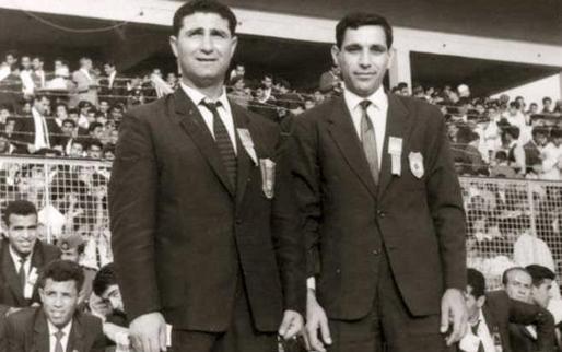 صورة بغداد 1966 – مخلف العمر مع جوزيف أبو مراد