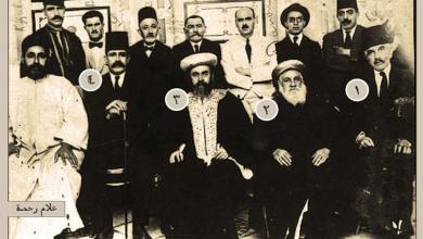 يوسف فارحي و الحاخام الأكبر يعقوب دانون، رئيس الطائفة اليهودية بدمشق