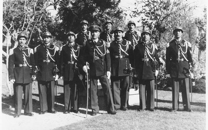 دمشق 1951 - عبد السلام لاش مع عناصر القصر الجمهوري